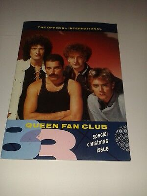 Queen Fan Club Magazine -  Winter Issue / Christmas 1983  / Very rare !!