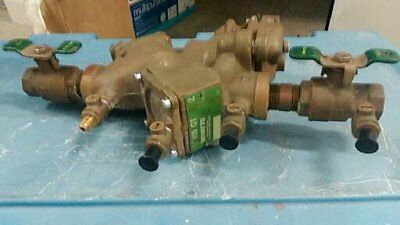 "New Watts 3/4"" Brass Reduced Pressure Zone Backflow Preventer 909Qt"