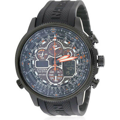 Citizen Eco-Drive Navihawk Atomic Alarm Chronograph Men's Watch, JY8035-04E