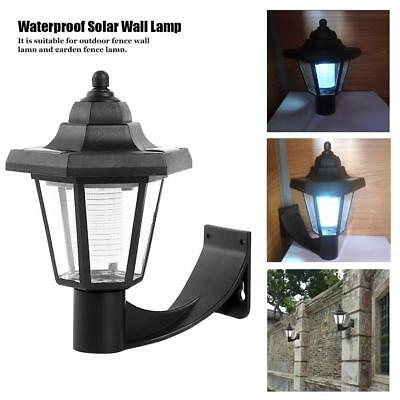 Durable Solar Power Wall Mount White LED Light Outdoor Garden Path Way Fence