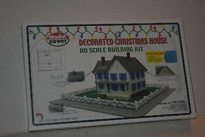 Model Power 189 Decorated Christmas House Ho Scale Kit