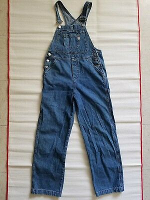 Vintage 90s GUESS Denim Overalls Girls Womens Size Large Made In USA
