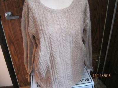 Oh Baby by Motherhood maternity beige sweater sz XL NWT RV$56