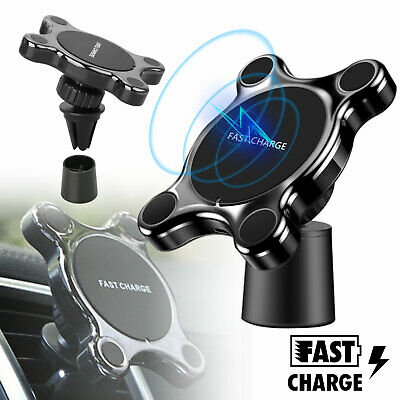 Magnetic Fast Qi Wireless Car Mount Charger For iPhone X Samsung Note 9 S9 Plus