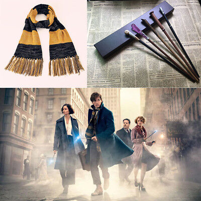 Fantastic Beasts and Where to Find Them Scarf Magic Wand Cosplay Newt Scamander