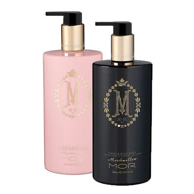 MOR Marshmallow Hand & Body Lotion 500ml + Hand & Body Wash 500ml by MOR