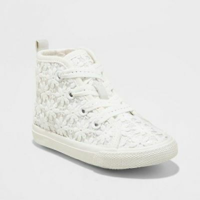 Clothing, Shoes & Accessories Kids' Clothing, Shoes & Accs New Toddler Girls Cat and Jack Jaye Fringe High Top Sneakers Metallic E64