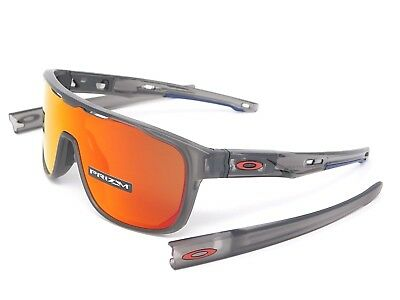 c97f136bc21f8 Oakley CROSSRANGE SHIELD Sunglasses OO9387-0431 Grey Smoke  Prizm Ruby  lenses