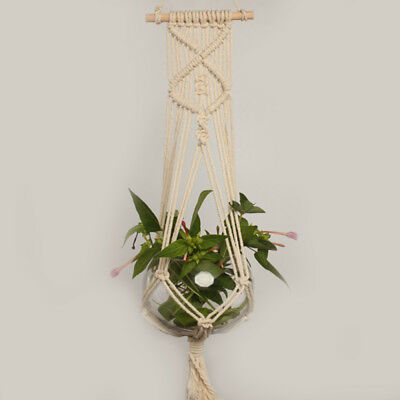 Macrame Rope Plant Hanger Garden Flower Pot Holder Hanging Basket Decoration