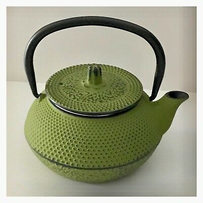 Cast Iron Green Fu Teapot 300ml Antique - Tea - Chinese - Japanese - Vintage