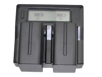 Quick LCD Charger +2x Battery for Sony NP-F970 F960 NP-F770 NP-F750 Camcorder