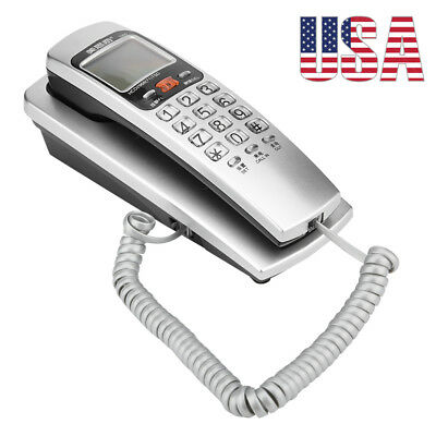 Corded Phone with Caller ID Home Office Desk Wall Mount Landline Telephone US