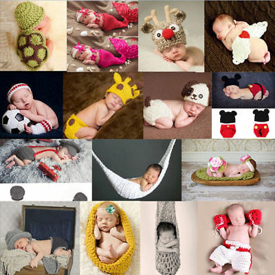 AU Costume For Baby Boy Knit Prop Photography Outfit Crochet Boys Girls Newborn
