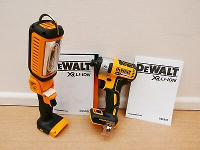 Dewalt Dcf887 18V Xr Brushless Impact Driver Bare Unit + Dcl050 Worklight