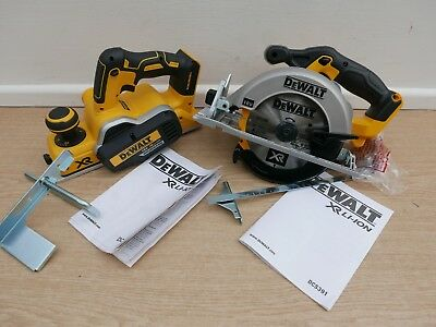 Brand New Dewalt Xr 18V Dcp580 Planer & Fence + Dcs391 Circular Saw Bare Units