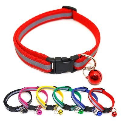 Soft Glossy Reflective Cat Collar Safety Buckle Dog Puppy Cat Collar With Bell