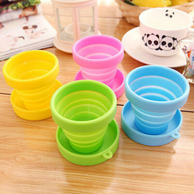 Cute Colorful Silicone Folding Cup Outdoor Camping Telescopic Collapsible Travel