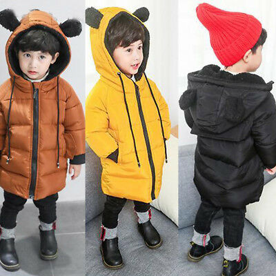 Cute Baby Girl Boy Winter Hooded Coat Jacket Coat Thick Warm Outerwear Clothes