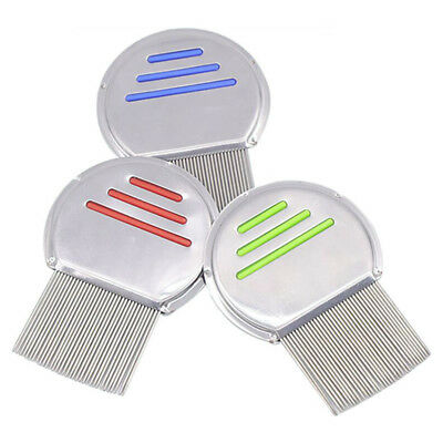 Lice Nit Comb Get Down To Nitty Gritty Stainless Steel Metal Head And Teeth New