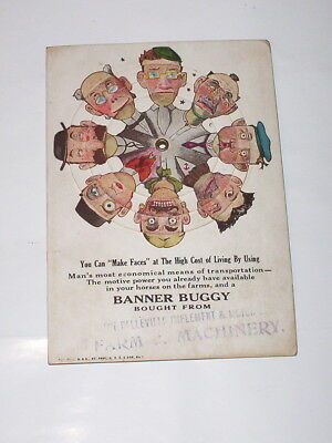 """EARLY 1900's-""""BANNER BUGGY"""" STORE PROMOTION TURNSTYLE ADVERTISER-BELLEVILLE IMP."""