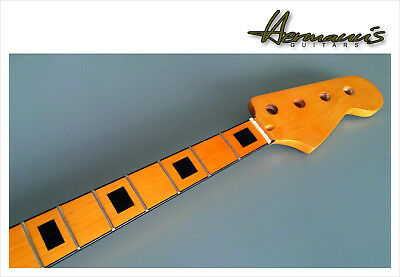 Precision Bass Canadian Maple Neck mit Black Block Inlay´s Maple Fingerboard