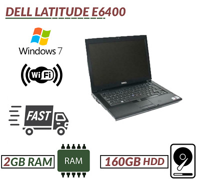Cheap Windows 7 Fast Laptop Dell E6400 Intel Core2Duo@2.53GHz 2GB RAM 160GB HDD