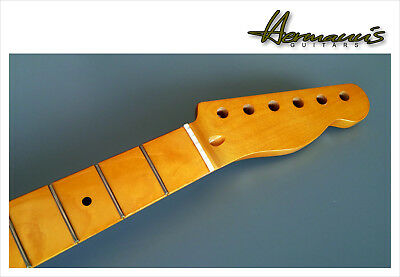 Telecaster Canadian Maple Neck, Maple Fretboard mit 22 Frets, Vintage High Gloss