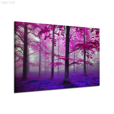 4EA3 Natural Purple Forest Canvas Print Oil Painting Paint Wall Picture 30x45CM