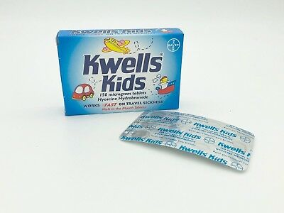 Kwells Travel Sickness Kids Melt In Mouth 12 Tablets FREE UK POST