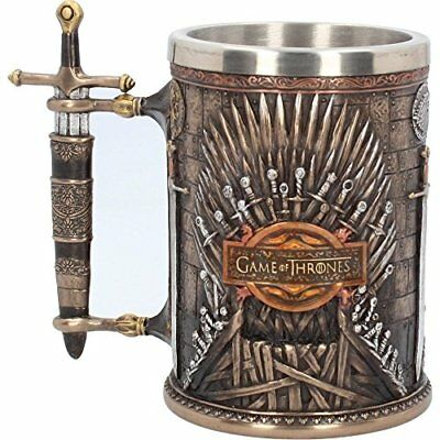 Game Of Thrones Iron Throne Tankard 14cm - Hand-painted Collectable Mug - Swords