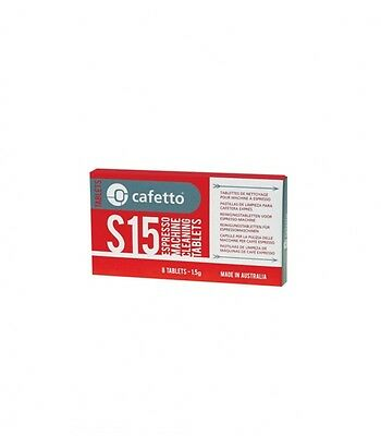 Cafetto S15 Coffee Espresso Machine Cleaning Tablets (8x1.5g) FREE COFFEE SAMPLE