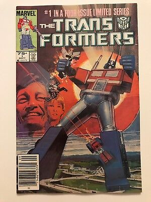 TRANSFORMERS #1   1st AUTOBOTS & DECEPTICONS   Newsstand   NM-