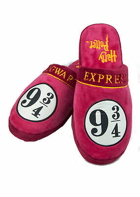 Official Harry Potter Hogwarts Express High Quality Plush Mule Slippers 8-10