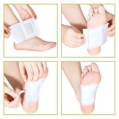 Ginger Salt Detox Foot Patch Body Care Toxins Remove Weight Loss Sheets 10 Pcs T