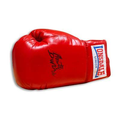 Roberto Duran Hand Signed Autograph Lonsdale Boxing Glove