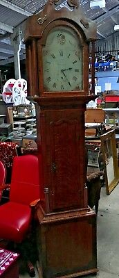 1720 Pontefract Longcase Antique Grandfather Clock With Floral Face