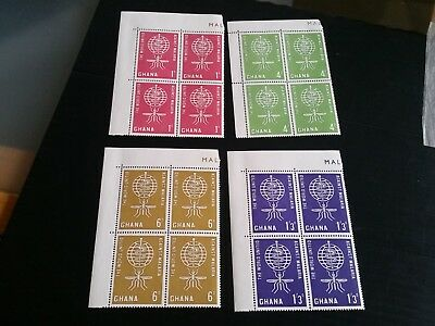 Ghana 1962 Sg 296-299 Malaria Eradication Day Block Of Four   Mnh