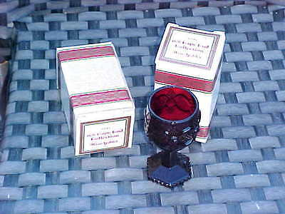 New in Box AVON THE 1876 CAPE COD COLLECTION RUBY.. TWO WINE GOBLETS