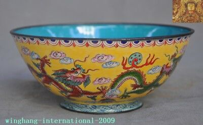 Chinese Dynasty palace bronze Cloisonne Zodiac animal Dragon statue Tea cup Bowl