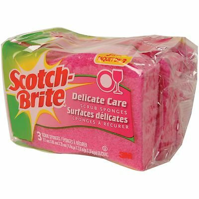 3M DD-3-8 Scotch-Brite Delicate Care Scrub Sponges 3-count