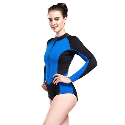 401601b1c1 WOMENS SPRING WETSUIT Front Zip Bikini 3mm Thermal Diving Surfing Suit  Swimsuit