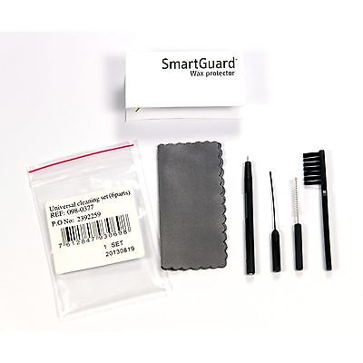 6 Part Hearing Aid Cleaning Care Kit Set - Brush Loop Magnet Vent & Cloth
