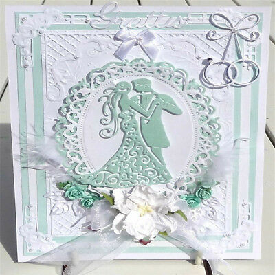 Foldable Greeting Cards Stencils DIY Scrapbooking Album Cutting Die Template 6A