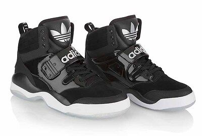official photos 0c7c0 de663 Adidas-Hackmore Q32935 Black-White Mens Basketball Sneakers Size 11.5