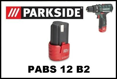 Bateria taladro atornillador Parkside 12v Battery Drill Screwdriver PABS 12 B2
