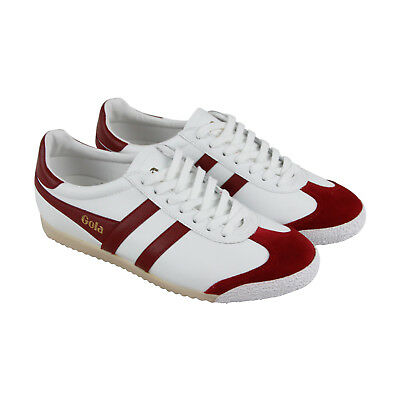 Gola Harrier 50 Mens White Leather Lace Up Sneakers Shoes