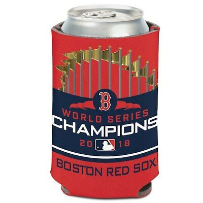 Boston Red Sox WinCraft 2018 World Series Champions 12oz. Logo Can Cooler