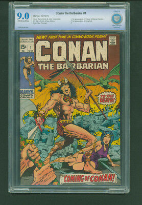 Conan the Barbarian #1 Oct 1970, Marvel CBCS 9.0 Barry Windsor-Smith