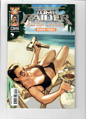 TOMB RAIDER #50 - Grade 9.6 - Adam Hughes Lara Croft cover! Final Issue!