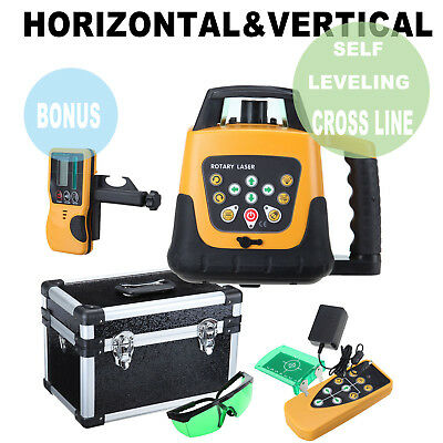Green Beam Self-Leveling Horizontal&Vertical Rotary Laser Level kit 500M w/Case
